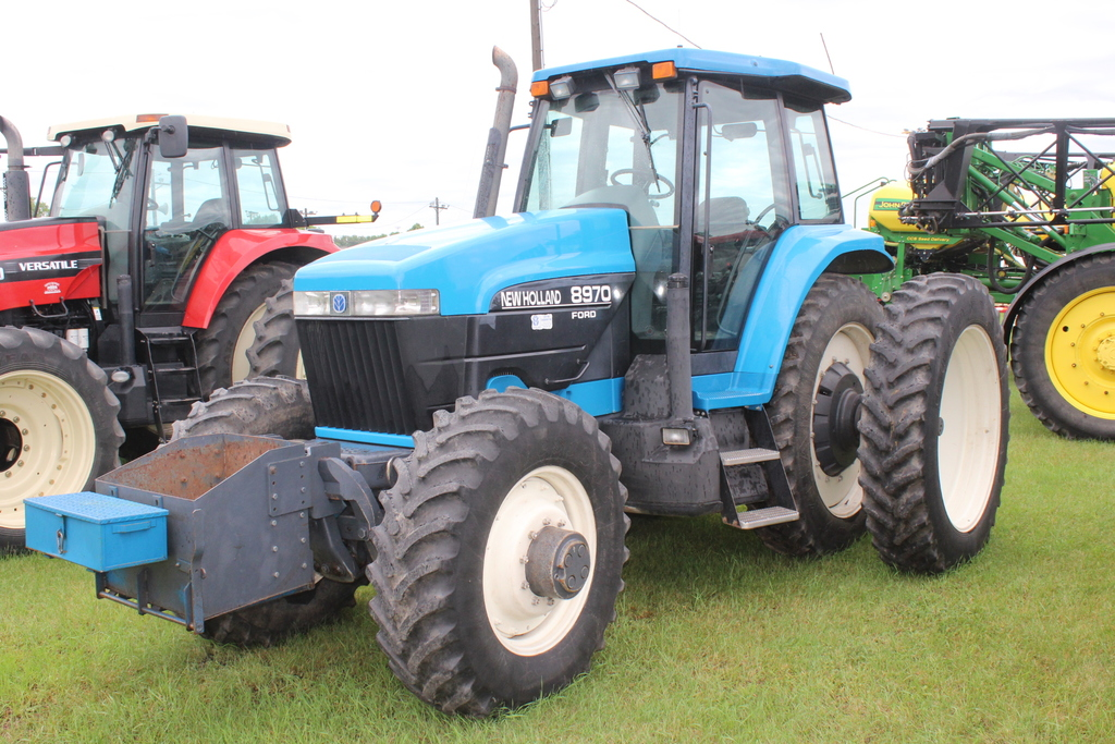 1998 NEW HOLLAND 8970 MFWD TRACTOR, SUPER STEER,