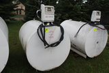 500 GAL DSL BARREL WITH PUMP AND METER, USED FOR