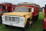 **1974 FORD F700 TRUCK, SINGLE AXLE W/ 15' STEEL