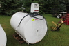 500 GAL GAS BARREL WITH PUMP AND METER, USED FOR