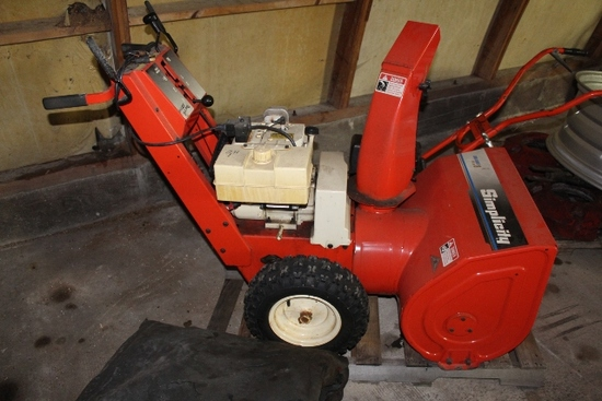 SIMPLICITY TWO-STAGE SNOW BLOWER, WALK BEHIND, ELECTRIC START,