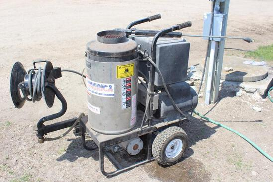 All American Hot Pressure Washer, Hose Reel, 2300 PSI, 4 GPM