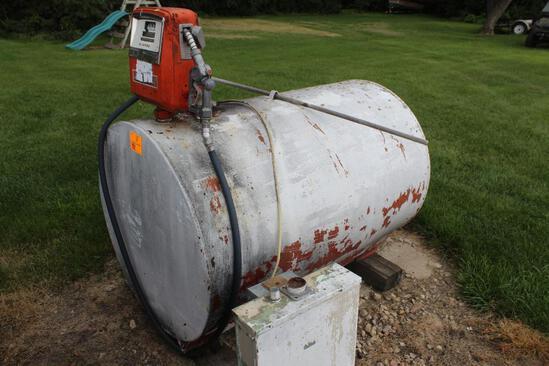 325 Gallon Gas Barrel, Gasboy Pump & Meter, Auto Nozzle