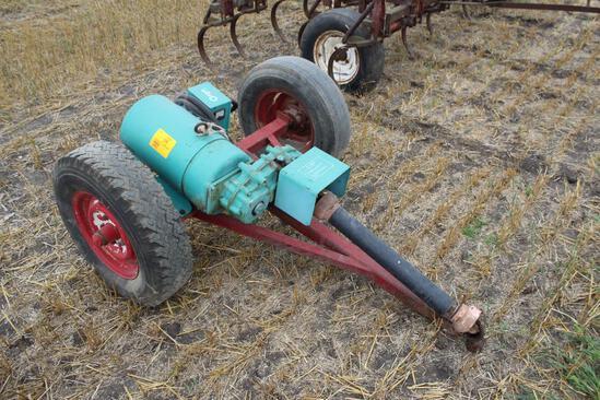 Onan Generator, on 2 Wheel Trailer, 540 PTO, Model 15UF3, SN- 0375933874