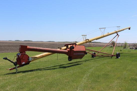Westfield MK 100-71 Swing Hopper Auger, 540 PTO, Dual Swivel Hopper Wheels