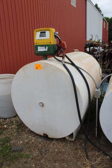 500 Gallon Diesel Barrel, Gasboy Pump & Meter, Auto Nozzle