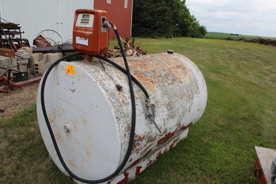 500 Gallon Diesel Barrel, Gasboy Pump & Meter