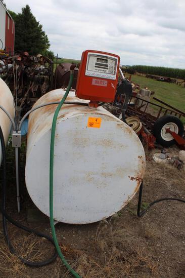 325 Gallon Diesel Barrel, Gasboy Pump & Meter, Auto Nozzle