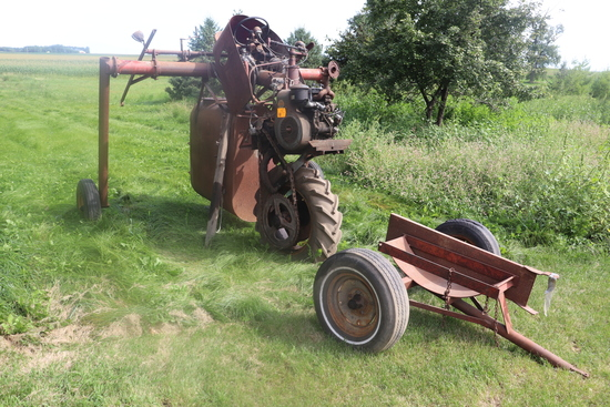 HAGIE HI BOY SPRAYER WITH WISCONSIN ENGINE, NOT RUNNING,