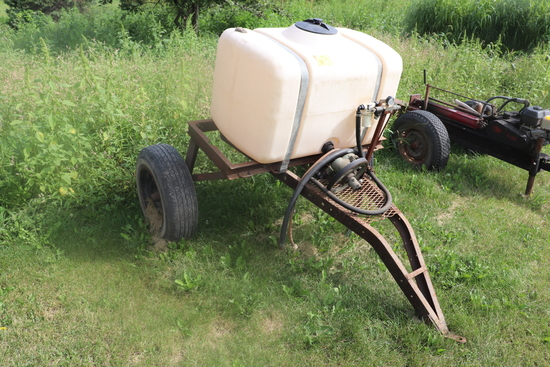 2 WHEEL  SPRAYER, 50 GALLON TANK WITH HYD PUMP