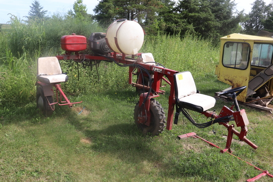 SCHWEISS BEAN RIDER W/18 HP GAS ENGINE, STORED