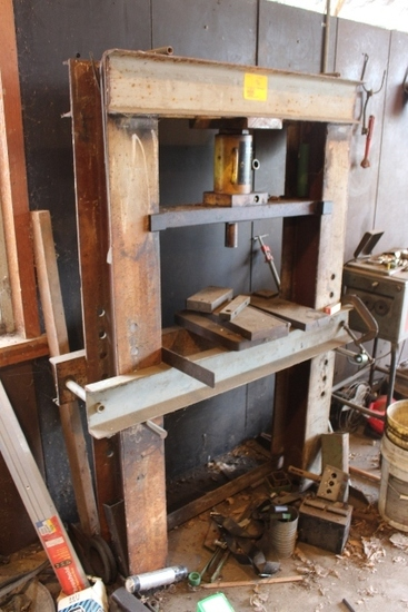 HOMEMADE SHOP PRESS 20 TON MANUAL