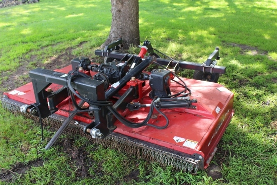 8' TEBBEN ROTARY BRUSH MOWER, SEMI MOUNTED,