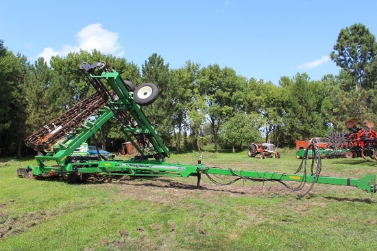 45' UNVERFERTH 1225 ROLLING HARROW, EXT HITCH,
