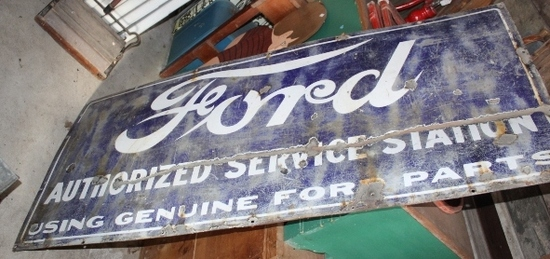 """27"""" X 60"""" FORD AUTHORIZED SERVICE STATION, USE"""