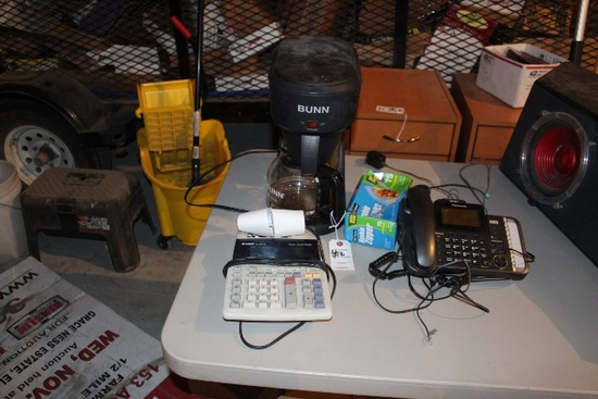 BUNN COFFEE MAKER, SHARP ADDING MACHINE,