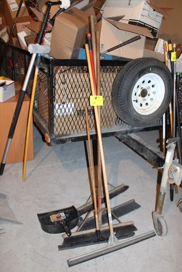 BROOMS, SQUEEGEES,  NO SHIPPING PICKUP ONLY