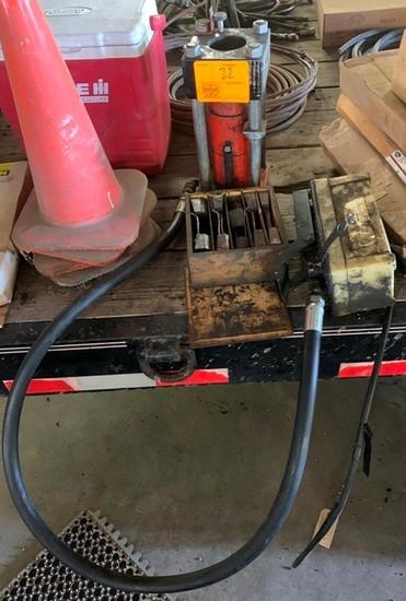 GATES POWER CRIMP 601 HYD HOSE MACHINE WITH DIES