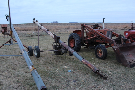 """FETERL 6"""" X APPROX 27' AUGER, GAS ENGINE"""