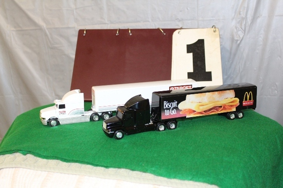 1/64 FREIGHTLINER SEMI AND TRAILER,