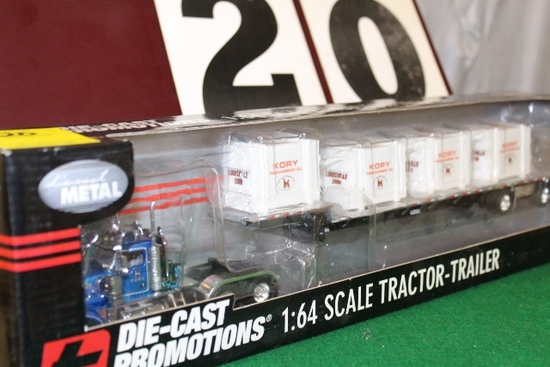 1/64 DIE-CAST PROMOTIONS TRACTOR -TRAILER,