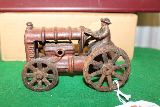 CAST IRON FORD TRACTOR WITH MAN, NO BOX