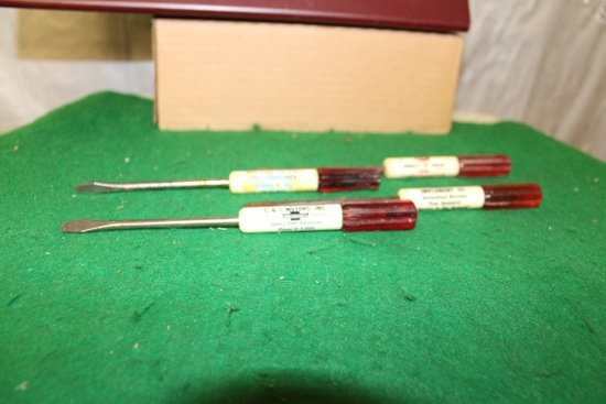 (4) ADVERTISING SCREWDRIVERS, C & J MOTORS,