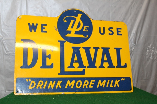 "12"" X 15 3/4"" WE USE DELAVAL, DRINK MORE MILK,"