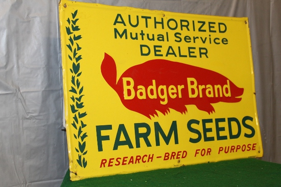 "14"" X 20"" BADGER BRAND FARM SEEDS, SINGLE SIDED"