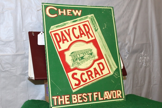 "11"" X 14"" CHEW PAYCAR SCRAP, SINGLE SIDED"
