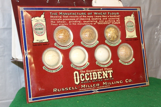 "9"" X 14"" OCCIDENT FLOUR METAL PLACQUE, WITH"