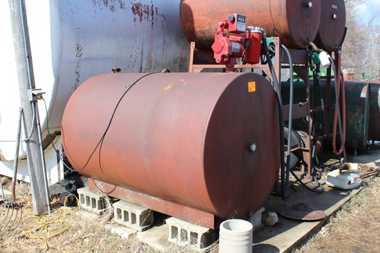 500 GALLON DIESEL BARREL, FILL-RITE PUMP
