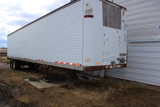 *** 1985 TIMPTE 48' REEFER BODY SEMI TRAILER,