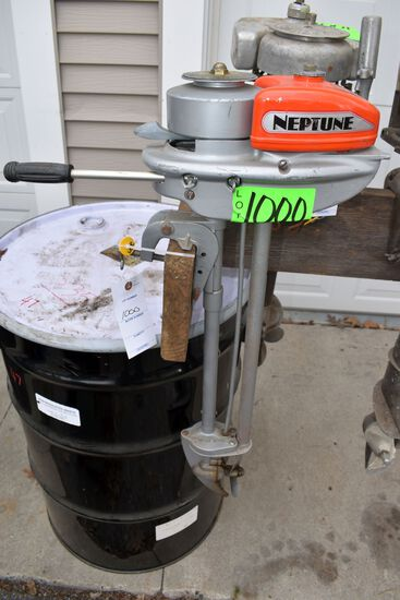 Neptune Boat Motor, Model 10A1, SN:27869C1, Has Been Refurbished