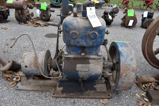 Cushman 8HP, Model 44, Twin Cylinder, Gas Engine, SN:3490