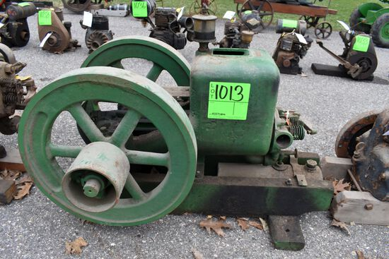 T&M Nelson Bros, 2.5HP Gas Engine, Upside Down Mag, Old Restoration, With Oiler