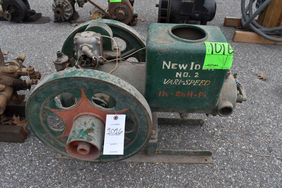 New Idea No.2 Vary Speed 1.5 To 2.5HP Gas Engine, Web Mag, Older Restoration, SN:2146