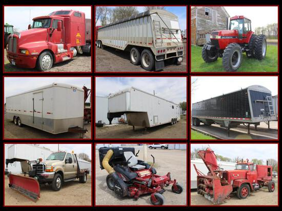 SEMI TRUCKS, GRAIN & STORAGE SEMI TRAILERS, TOOLS