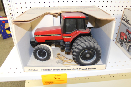 CIH 7140 MFWD Toy Tractor, Duals, NIB, box has damage