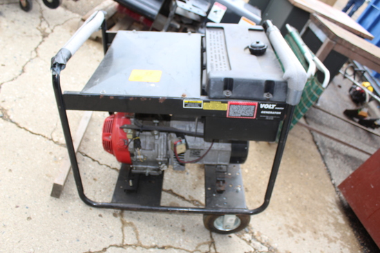 Volt Master 5000 Watt Generator, 100V & 220V, Honda 8 HP Engine On Cart, 12