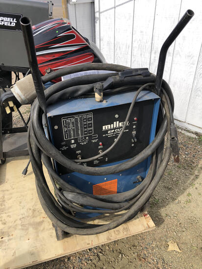 Miller Zip Cut DC Plasma Cutting System On Cart, S/N# JE828501
