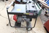 Volt Master 5000 Watt Generator, 100V & 220V, Honda 8 HP Engine On Cart, 12