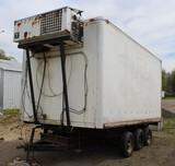 2003 Homemade 8' x 16' Tri-Axle Reefer Van Body, Rear Service Door, Thermo