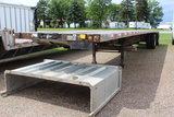 "1996 96"" x 48' Lufkin Flatbed, Alum, Steel & Wood Deck, Alum Headache Rack,"