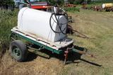 Diesel Fuel Tank, Approx 125 Gal, Gasboy 12V Pump, on 2 Wheel Homemade Trai