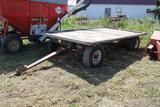 Flat Rack on Kory 10 Ton Gear, 8'x16', Ext Pole, 11L-15 Tires