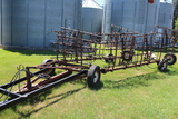 Lindsay 45' Spike Tooth Drag, 7 Section, on Hyd Cart