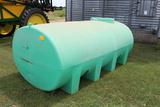1600 Gal Horizontal Endura Plas Green Poly Fert Leg Tank