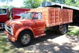 1967 Chevy C50 Single Axle Grain Truck, 14' Steel Box with Scissor Hoist,