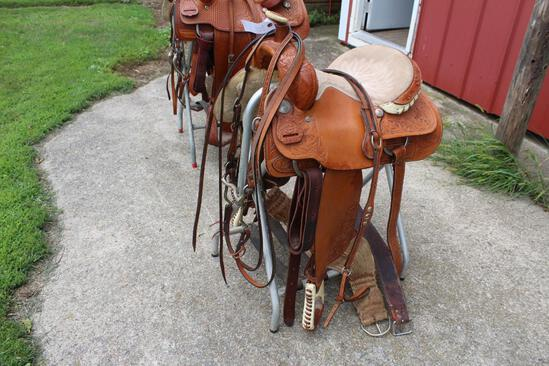 "Longhorn 15 1/2"" Saddle, Maverick, With Bridle Model # 396"